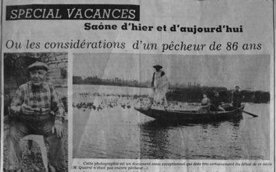 Les considérations d'un pêcheur de 86 ans.