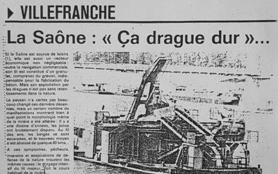 La Saône: «ça drague dur»