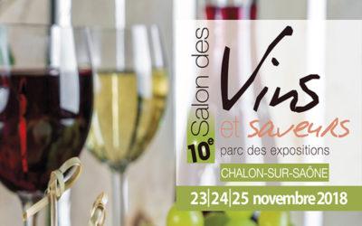 Salon vin et saveur le 22 au 24 novembre 2019 à Chalon Sur Saône